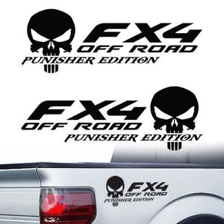 Ford F-150 FX4 Off-Road Truck f150 The Punisher Pair Decals Vinyl Decal f 150 7