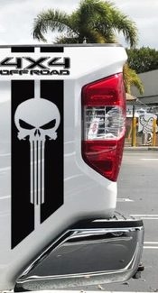 Toyota TRD Tundra Punisher 4x4 off road Racing Decals Vinyl Sticker Decal Stripe