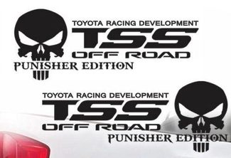 Toyota TSS Truck Off-Road Racing Tacoma Tundra The Punisher Decal Vinyl Decals j