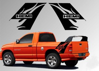 Dodge Ram Vinyl Decal Graphic Truck Bed Stripes Hemi Flames Daytona 1500 2500