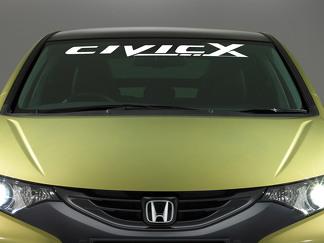 Honda Civic Logo Windschutzscheibe Vinyl Aufkleber Aufkleber Emblem Fahrzeuggrafiken