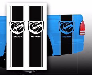 Dodge Viper SRT-10 Pickup Truck Bed Stripes decal stickers / Choose Color
