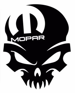 Mopar Skull Dodge - Window Sticker