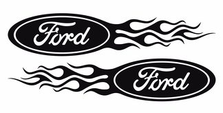 Ford Flame Style Logo Right & Left car decal stickers
