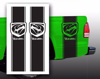 Venom Dodge Pickup Truck Bed Stripes decal stickers / Choose Color