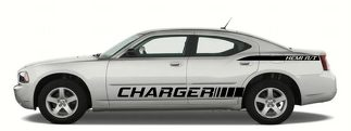 x2 Quarter Panel Side Stripes - Hemi R/T vinyl sticker decal fits dodge charger