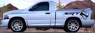 SRT Decal Graphic Vinyl Vehicle BED Dodge Ram SRT-10 VIPER MOPAR STRYKER STRIKER