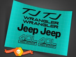 Jeep Wrangler Sport 4.0 high output STICKERS DECALS KIT YJ TJ