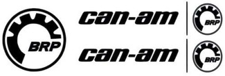 2 X CAN-AM LOGO STICKER DECAL EMBLEM + 1 FREE BRP STICKER