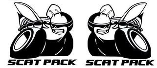 2 X Dodge Challenger Scat Pack 392 HEMI Shaker Haubenaufkleber Aufkleber Emblem Scatpack