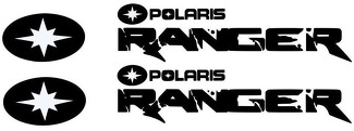 Polaris RANGER RZR 800 900 1000 XP ranger team sticker decal emblem
