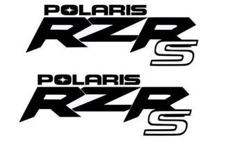 2 X POLARIS TEAM RZR SPORTSMAN RANGER STICKER DECAL EMBLEM