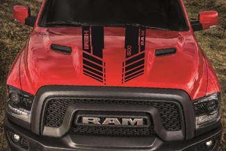 DODGE RAM 1500 HOOD twin stripes vinyl decal stickers custom hemi