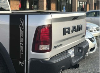 2 Dodge Ram Rebel 1500 5.7L decals TRX side stripes vinyl stickers Hemi Graphics