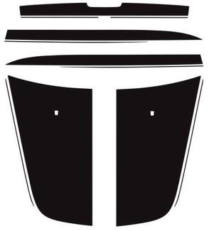 Dodge Charger 2006-2010 Split Hood 3M Vinyl Grafikstreifen Aufkleber Hemi