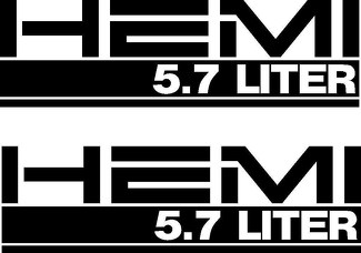 DODGE HEMI 5.7 LITER vinyl decal sticker x2 PIECE