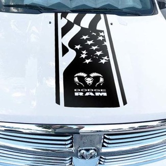 Dodge Ram Hemi 1500 2500 3500 Rebel Mopar Hood Decal Vinyl Stripes