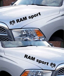 Dodge Ram Hemi Sport 1500 2500 Hood Vinyl Decals Racing Stripes Mopar Rebel RT