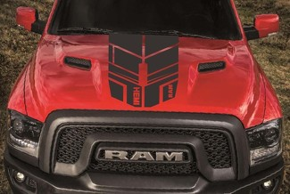 DODGE RAM 1500 HOOD single stripes vinyl decal stickers custom hemi