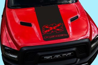 2015-16-17 Dodge Ram Hemi Rebel Hood Truck Decal Graphic Reb-17