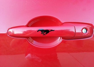 94-98 MUSTANG SMALL PONY DOOR HANDLE PONIES (2) DECALS VINYL GRAPHICS STICKERS