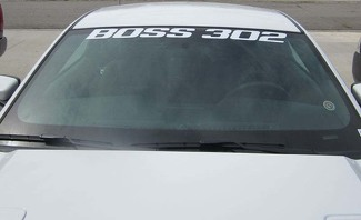 FORD MUSTANG BOSS 302 WINDSHIELD BANNER - 2012-2014 WINDOW DECAL VINYL STICKER
