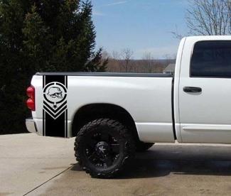 Metal Mulisha Truck Bed Streep Decal Set 2 Chevy Dodge Nissan Toyota Ford GMC