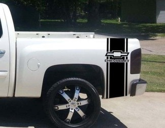 Custom Truck Chevrolet Bed Stripe Decal Set of (2) for Chevy Pickup
