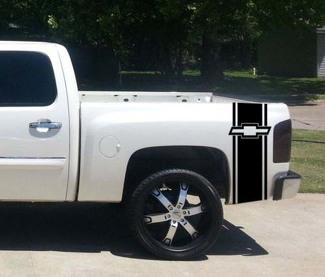 Custom Truck Chevrolet Fliege Bett Streifen Aufkleber Set von (2) für Chevy Pickup