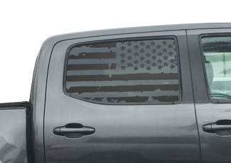 Toyota Tacoma USA Flag Decals for Rear window 2016-2018 Double Cab TRD Pro TP3