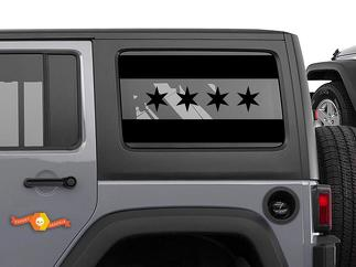 City of Chicago Flag Decal American Jeep Wrangler JKU window Vinyl offroad