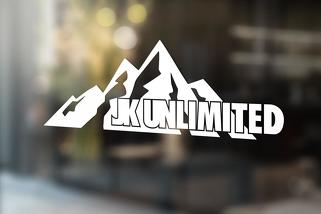 JK UNLIMITED custom mountain decal sticker for Jeep wrangler 4 door JKU