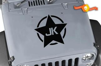 Army Star Vinyl Decal Sticker USA Military Jeep jku jk Wrangler Hood Matte black