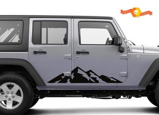 Mountain Range side graphics - outdoors - 2 Pack Jeep wrangler