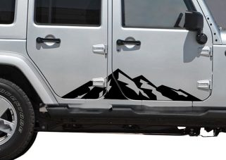 Mountain Range side graphics - outdoors - 2 Pack Jeep wrangler Chevy M3B jku cj