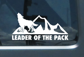 Leader of the pack mountain vinyl sticker decal Fits any hood Jeep off road LP1