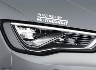 Powered by Motorsport Vinyl Sticker Auto Logo Hood Rok - Past Audi A4 A3 - SS22