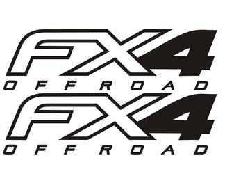 Fx4 Truck Bed Decals (Set) fits Ford Super Duty F-250 etc