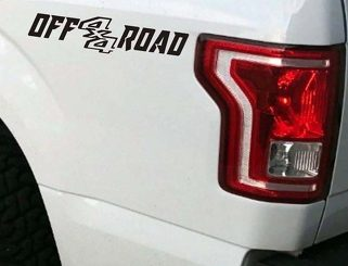 4x4 Off Road Truck Bed Decal Set GLOSS BLACK for Ford F-150 and Super Duty
