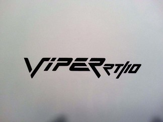 VIPER RT 10 DECAL ** DODGE CHALLENGER CHARGER RAM MOPAR PLYMOUTH CUDA