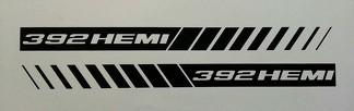 392 HEMI STROBE STRIPES ** HOOD DECALS ** MOPAR * DODGE RAM 5.7 CHARGER SRT8