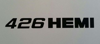 426 HEMI DECAL ** R/T DODGE CHALLENGER CHARGER MOPAR PLYMOUTH CUDA DEMON