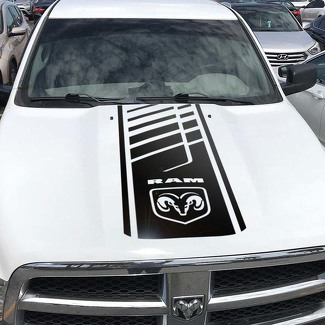 Hood Decal Dodge Ram Hemi 1500 2500 3500 Rebel Mopar Vinyl Cut Stripe Graphic l