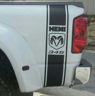 DODGE RAM BED SIDE STRIPES VINYL DECAL** MOPAR SRT 345 HEMI POWER WAGON