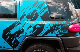 ONLY 1 SIDE!!! Toyota FJ Cruiser mud splash Decal Sticker