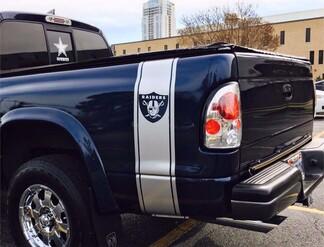 X2 Truck Vinyl Aufkleber, Sticker Streifen Dodge Ram Mopar NFL Hemi Oakland Raiders