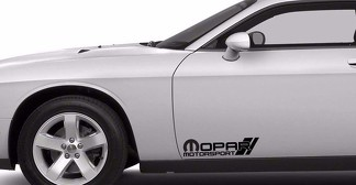 2x MOPAR MOTORSPORT DECAL, VINYL DIE CUT STICKER