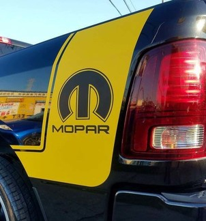 2 Truck vinyl decals racing stripes sticker Dodge Ram Mopar Hemi auto Graphics