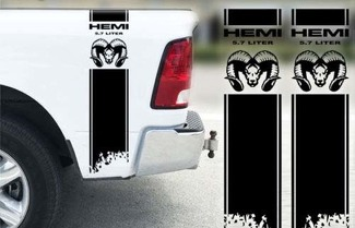 Dodge Ram 1500 2500 3500 Hemi 4x4 Decal Truck Bed Stripe Vinyl Sticker Racing D3
