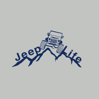 2 Jeep Life Decal Vinyl Sticker Car Window Truck Laptop, Jeep Sticker Car Decal